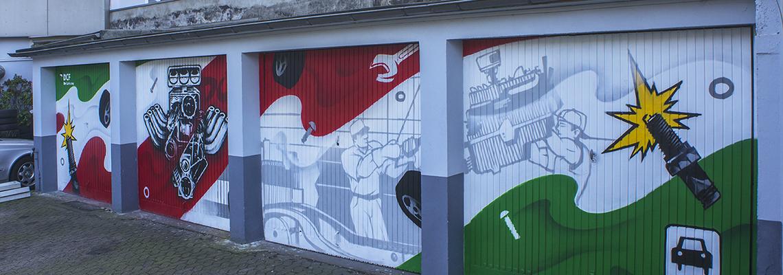 Garagengestaltung der Kfz-Werkstatt DCF