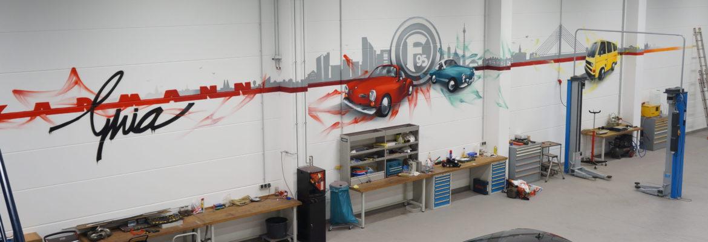 Gestaltung eines Autohauses