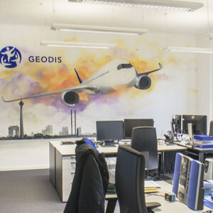 Graffiti im Büro