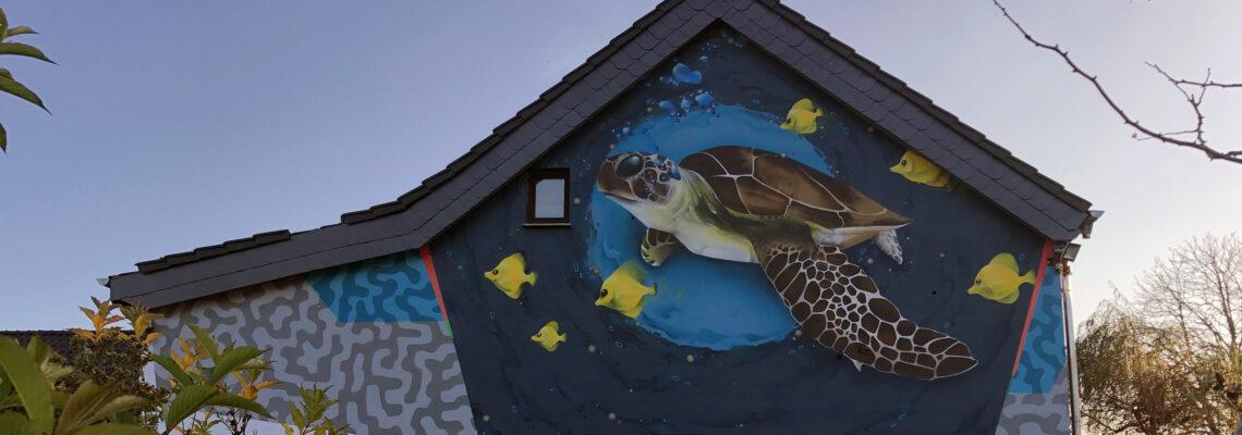 Schildkröte im Graffitistil