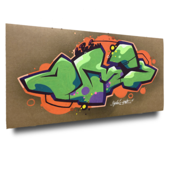 Graffitistyle auf Pappe