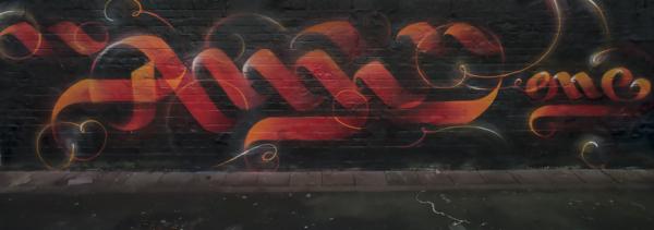 Calligraffiti Graffiti Style, Graffiti-Bild